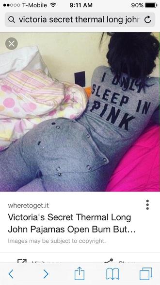 pajamas grey and black victoria's secret