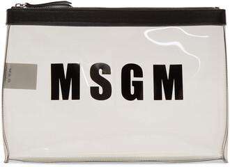 plastic vinyl pouch grey bag