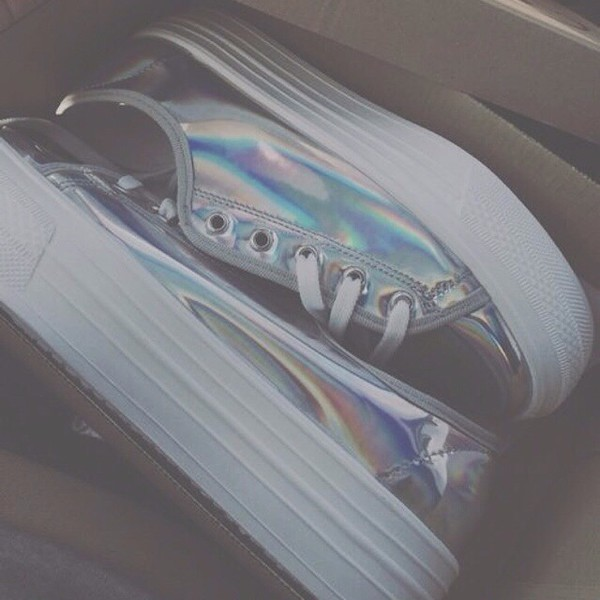 shoes iridescent hipster vintage platform shoes tumblr fashion