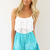 White Sleeveless Top - White Sleeveless Crop Top with | UsTrendy