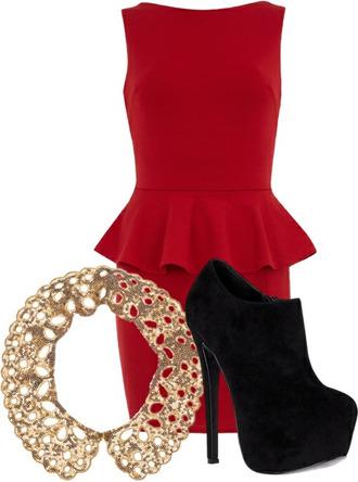 dress red dress carpet hot elegant res gold stars black girl
