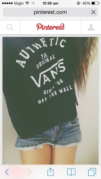 vans navy/back small sweater