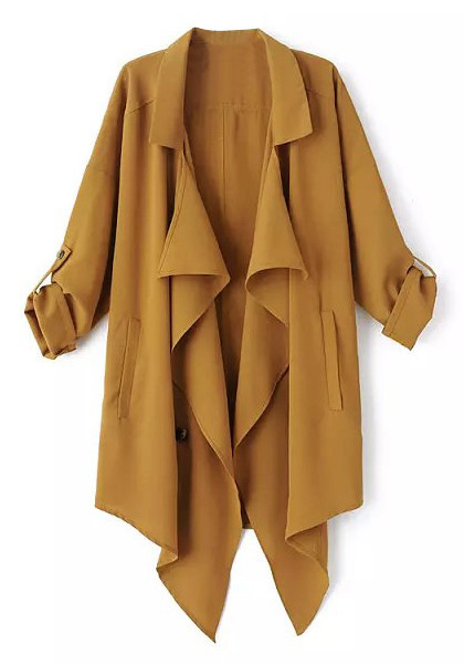 Camel slouchy trench coat
