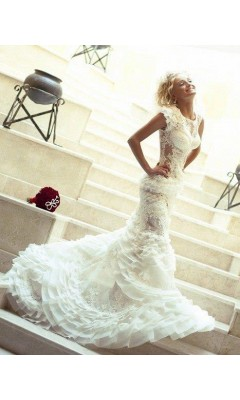 Mdna laced bridal gown 6510