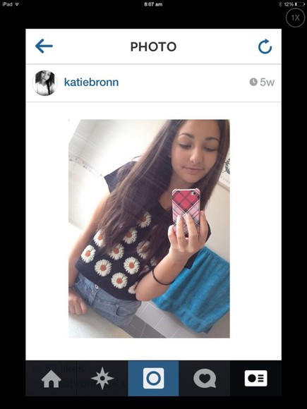 phone case iphone 5 shirt red iphone 4 flowers black top tank top insta instagram fav fave hair brown katie