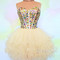 Sweetheart ball gown tulle short prom dress, homecoming dress - 24prom