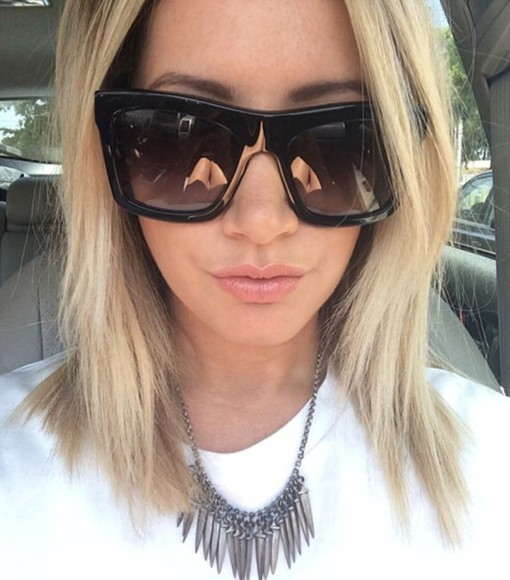 ashley tisdale sunglasses chanel black
