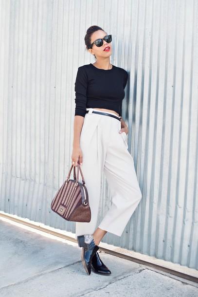 style me grasie blogger top bag jewels sunglasses make-up