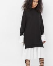 dress,black,black dress,oversized,oversized dress,pullover,pullover dress
