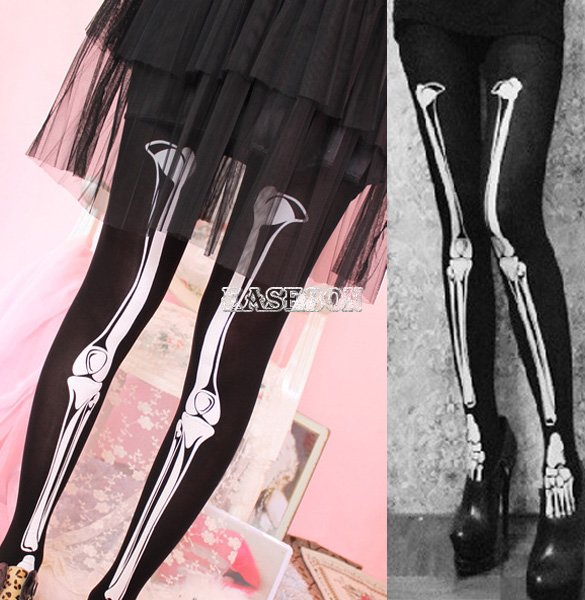Halloween Skeleton Bone Printed Pants Tights Pantyhose Lady Leggings Stockings | eBay