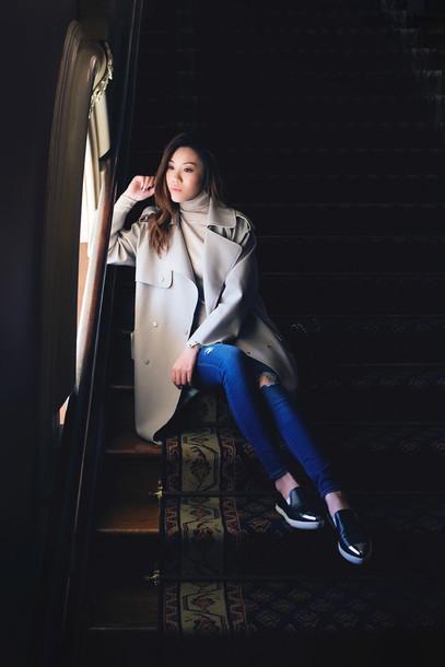 tsangtastic blogger coat sweater trench coat