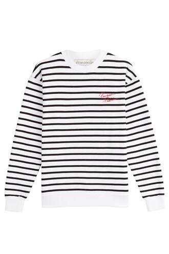 sweatshirt cotton stripes sweater