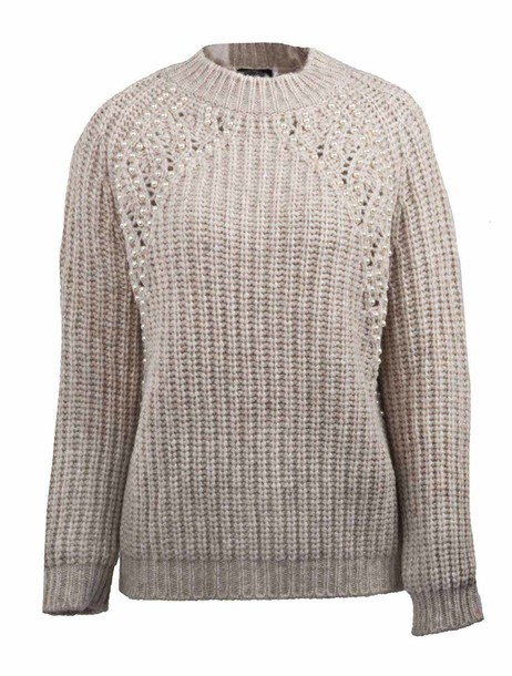 ERMANNO ERMANNO SCERVINO jumper beaded nude sweater