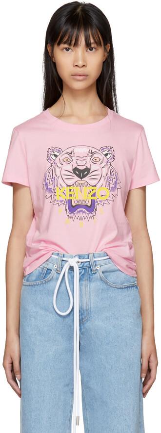 t-shirt shirt tiger pink top