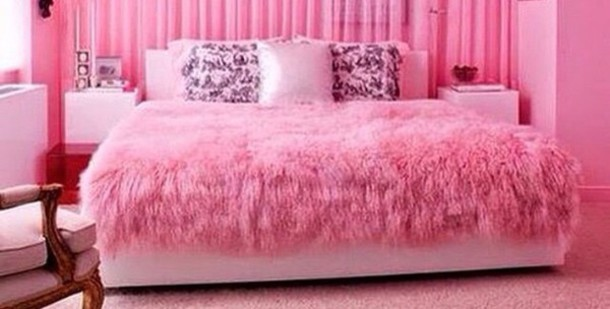 home accessory pink blanket girly