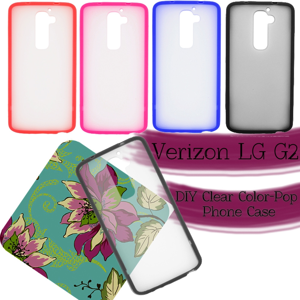 separation shoes 44548 5efd2 Verizon LG G2 DIY Clear Color-Pop Window Frame Phone Case