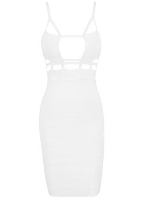 White Cut Out Bandage Dress H464 $99