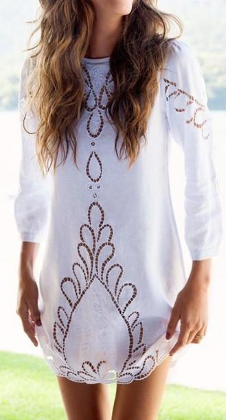 dress eyele white dress cut-out dress