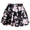 Graceful cherry blossom printed high-waisted pleated skirt for women - $11.18