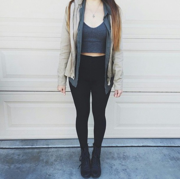 crop tops grey grey high waisted jeans skinny jeans black high waisted pants fashion inspo fashion inspo hipster edgy boyish trendy leggings top