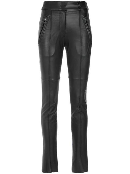 Gloria Coelho pants skinny pants women leather