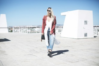 room91 blogger jacket shoes top jewels jeans