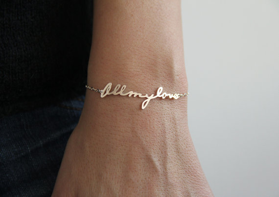 Signature Bracelet Handwriting Bracelet Personalized by capucinne
