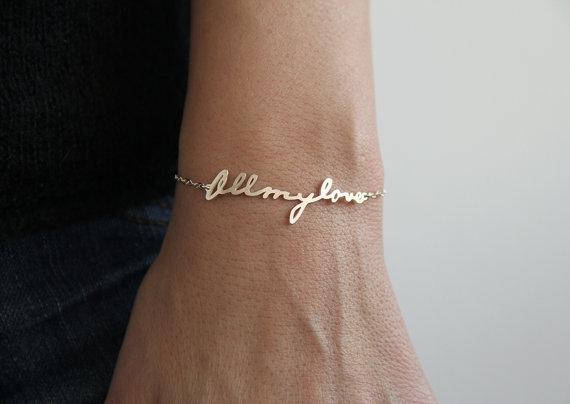 Signature Bracelet Handwriting Bracelet Personalized by capucinne