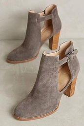 shoes,buckles,suede ankle boots,suede boots,suede pumps,suede shoes,heels,boots,booties,suede,grey,brown shoes,taupe