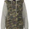 Jersey sleeve camo hooded jack - jackets  - clothing  - topshop