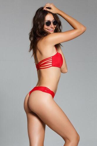 swimwear best seller bikini bottoms brazilian bikini cheeky red skimpy bikiniluxe