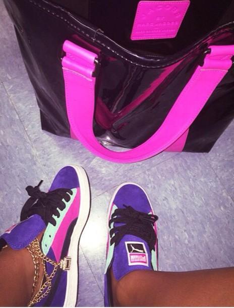 shoes suede puma low top mint purple e9e04b5ac