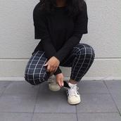 squares,lines,pants,cool,square,pattern,textures,tumblr clothes,tumblr leggings,square pants,square pattern,blue pants,adidas,adidas shoes,grid,checkered pants,black,white,white lines,leggings,grunge,urban