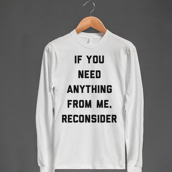 sweater lazy day reconsider shirt quote on it