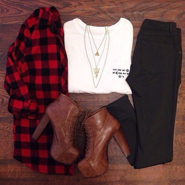 blouse t-shirt jeans shoes jewels