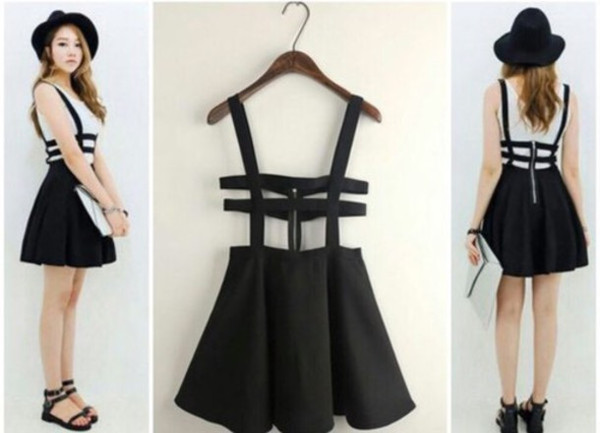 Fashion hollow out grid strapless dress