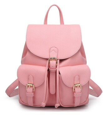 bag girly girl girly wishlist pink pink bag backpack leather backpack