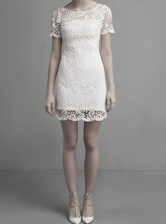 dress bqueen party embroidered lace white dress lace dress cute dress bodycon