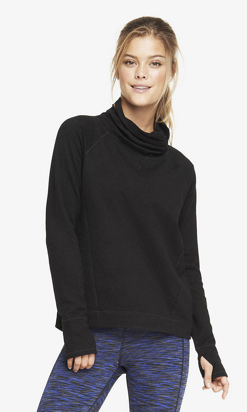 EXP CORE FUNNEL NECK SWEATSHIRT from EXPRESS