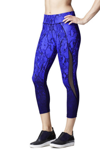 leggings michi indigo print blue black bikiniluxe