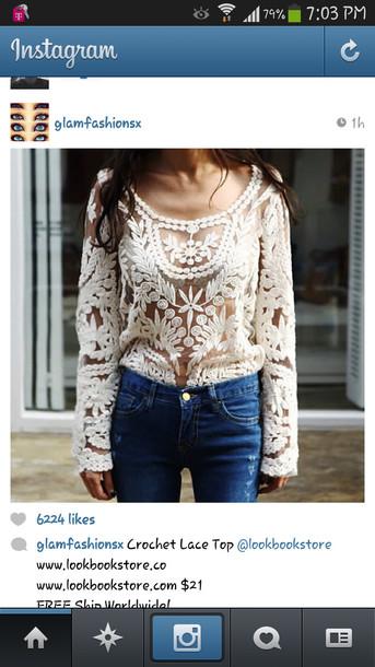 shirt lace cute wanted