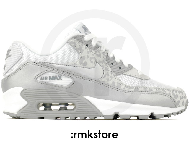 nike wmns air max 90 leopard print white silver 325213. Black Bedroom Furniture Sets. Home Design Ideas