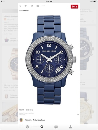 jewels navy michael kors runway watch