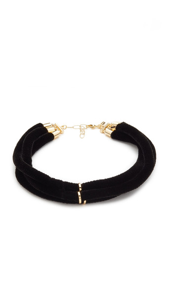 Elizabeth And James Joan Choker Necklace - Gold/Black