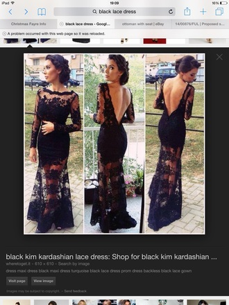 black lace kim kardashian dress