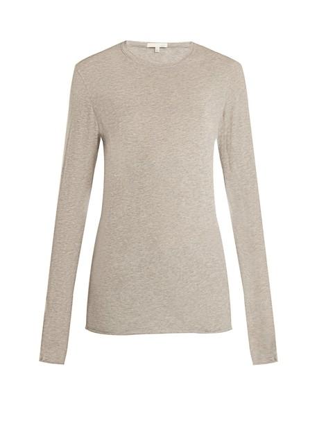 top long cotton grey