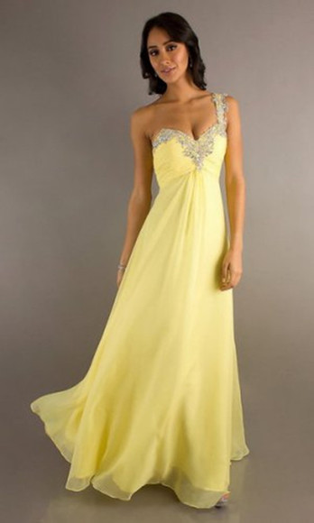 dress evening dress prom dress yellow prom dress homecoming dress