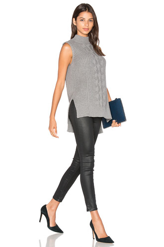 tunic sleeveless grey top
