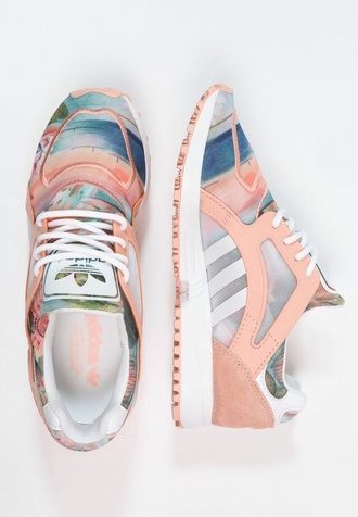 shoes adidas shoes pastel pastel sneakers adiddas shoes sneakers  pink peach adidas dusty pink floral