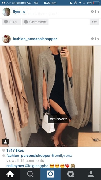 coat grey cape